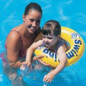 Swim Safe 20in Premium Swim Ring Step B